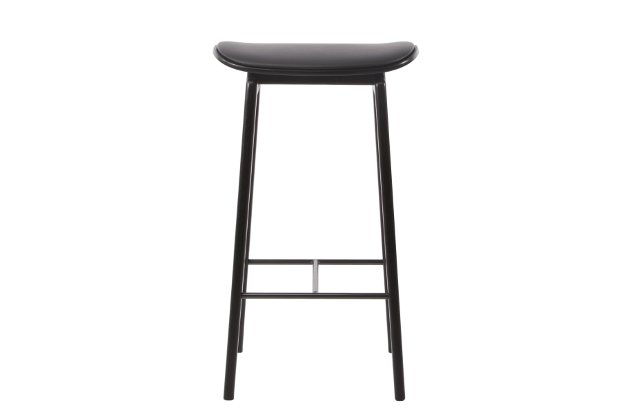 Superb Ny11 Bar Chair Black Frame Leather Norr11 Pabps2019 Chair Design Images Pabps2019Com